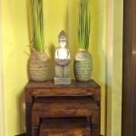 Auch hier sorgt wieder eine Buddhafigur für angenehme Beleuchtung.